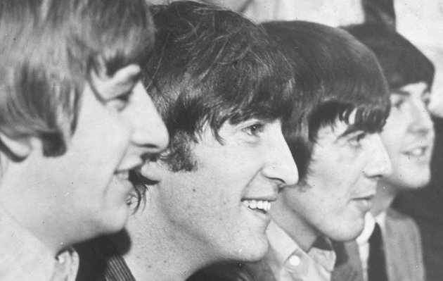 Headshot profile of British rock group the Beatles, circa 1966. L-R: Ringo Starr, John Lennon, George Harrison and Paul McCartney. (Photo by Hulton Archive/Getty Images)